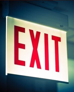 exit signs and emergency lights